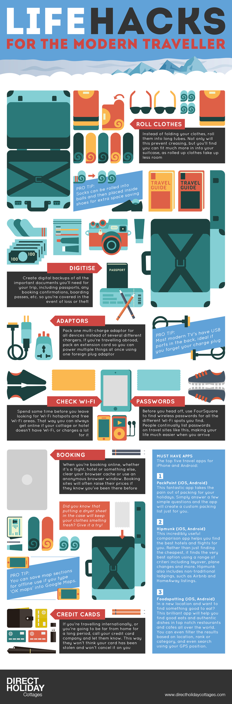 Life Hacks for the Modern Traveller (Infographic)