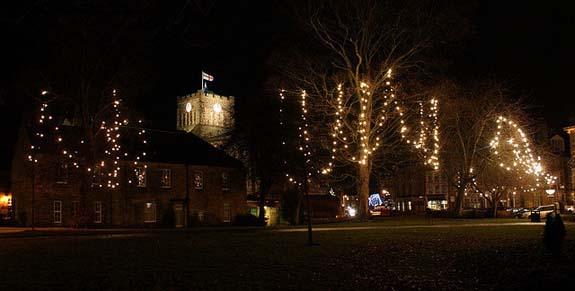 Christmas lights in Hexham Northumberland