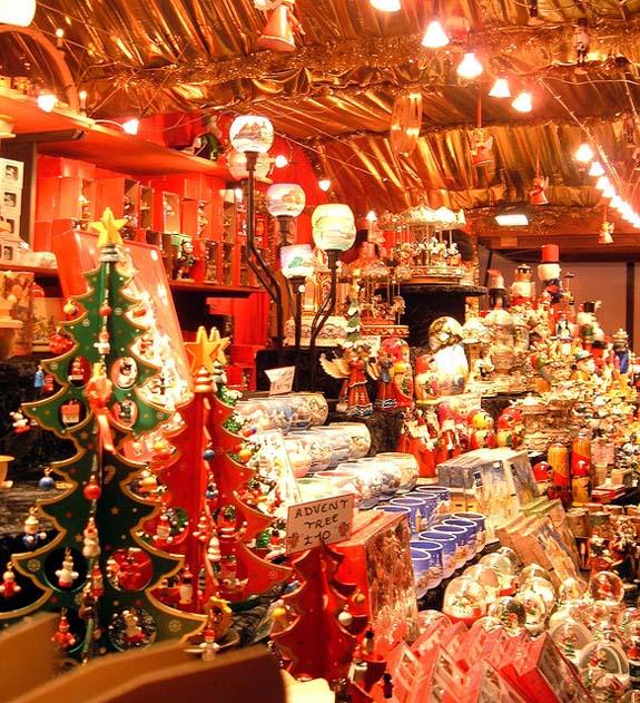 Christmas Market Stall in Edinburgh
